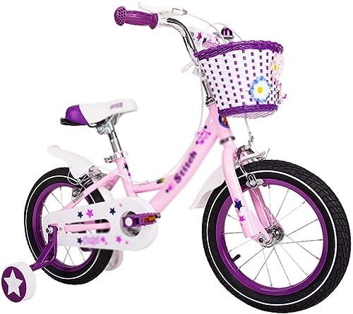 Kinderfürrad 12 14 16 Zoll Kinderwagen Hohe Elastizit Komfortable Sitzsicherheits-Doppelbremse (Farbe   Rosa, Größe   12INCH(92  16  46CM))