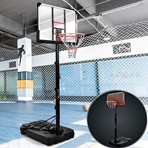 Portable Basketball Hoop & Goal with LED Lights & 44' Backboard,...