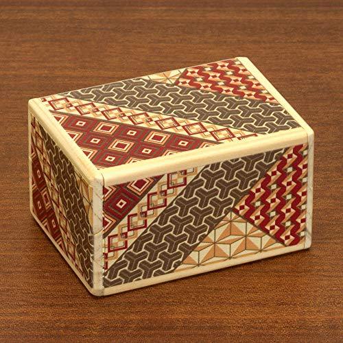 Bits and Pieces - Detailed Mosaic Secret Puzzle Box - 7 Step Solution - Wooden Money Box Brainteaser - Secret Compartment Brain Game
