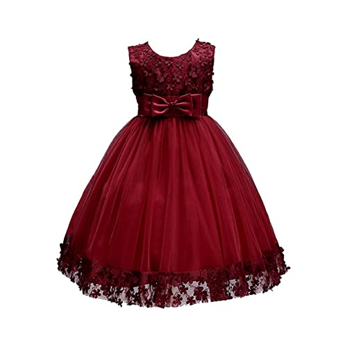 Cute Toddler Baby Kids Girls Velour Long Sleeve Dressy Party Formal Dress UK