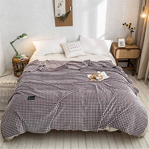 YUNSW Thick Warm Coral Fleece Blanket Soft Skin-Friendly Napping Bed Blanket Plaid Sofa Blanket