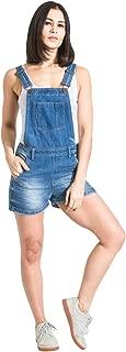 USKEES Denim Dungaree Shorts - Lightwash Ladies Bib-overalls