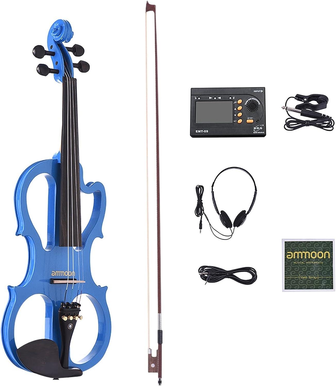 Violin Model Solid Wood Max 86% OFF Silent Maple Body online shop Ebony Electric