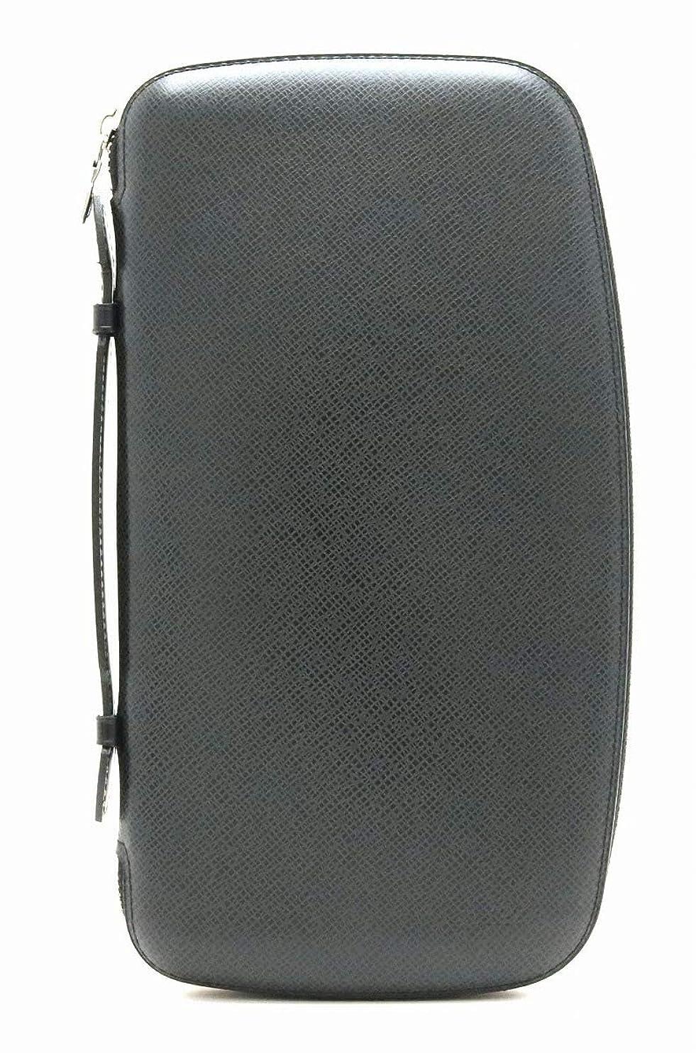 抑圧巨大酸[ルイ ヴィトン] LOUIS VUITTON タイガ オーガナイザー アトール トラベルケース セカンドバッグ レザー アルドワーズ 黒 ブラック M30652 [中古]