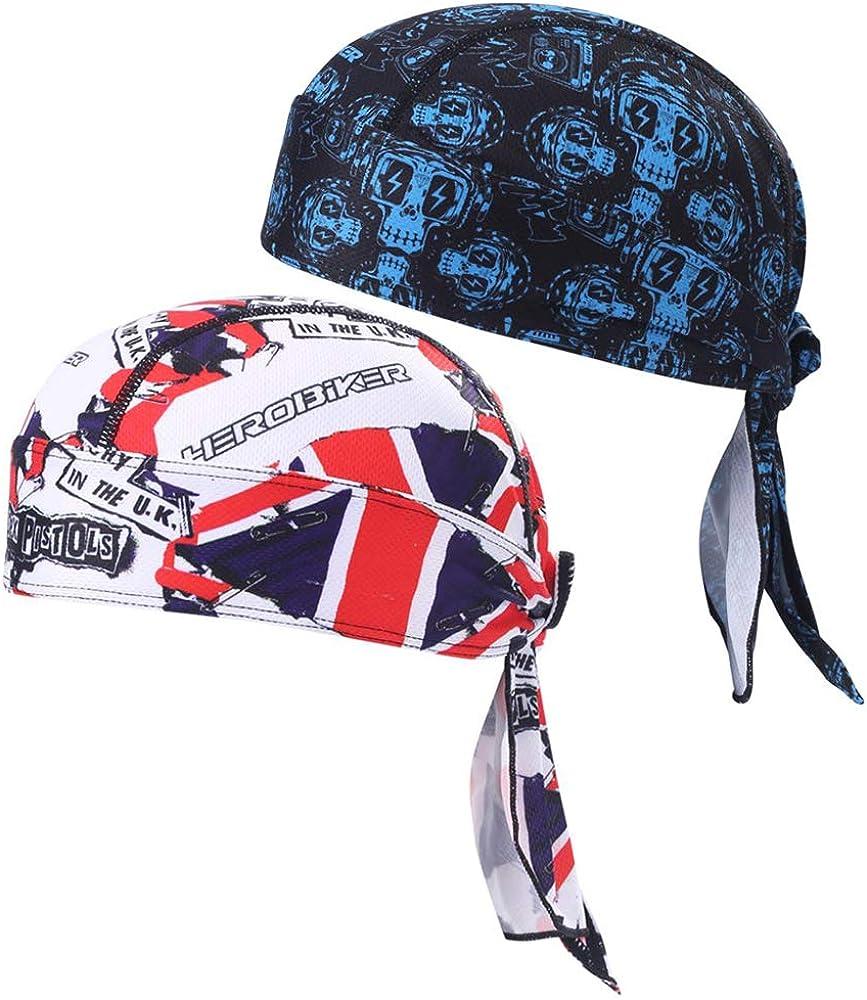 HEROBIKER Sweat Wicking Skull Cap Beanie Bandana Helmet Liner Outdoor Running Adjustable Breathable Quick Drying