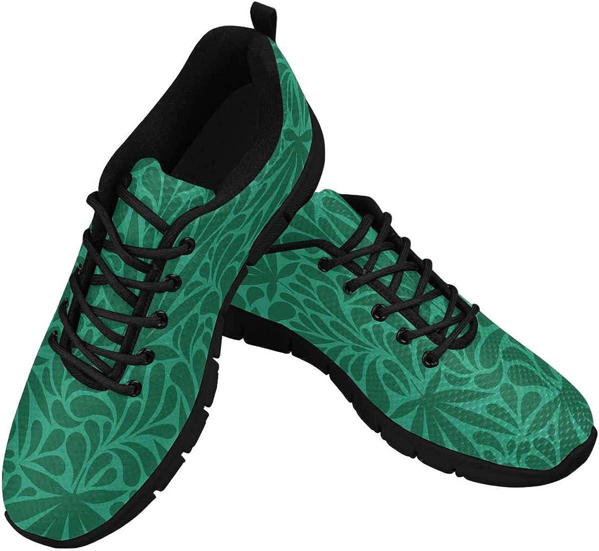 InterestPrint Cannabis Leaves. Retro Women's Breathable Non Slip Sneakers