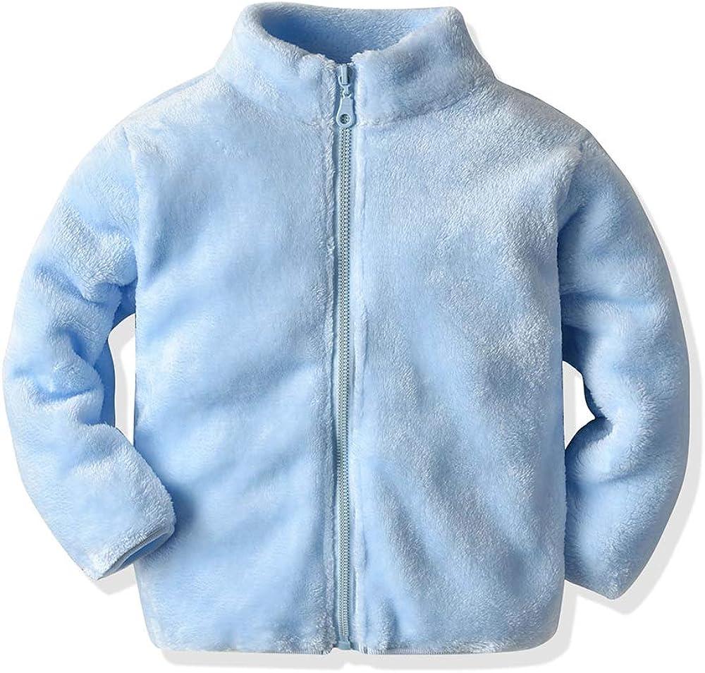 Moyikiss Studio Baby Boys Girls Zipper Windproof Lightweight Jacket Coat Kids Casual Coral Outerwear