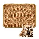 ALLOMN Estera para Rascar el Gato, 40×60cm Almohadilla de Sisal Natural, Almohadilla para Gato, Garras de Afilar el Gato, Cuidado de Las Patas del Gato, Juguete de Cuidado S/M/L/XL