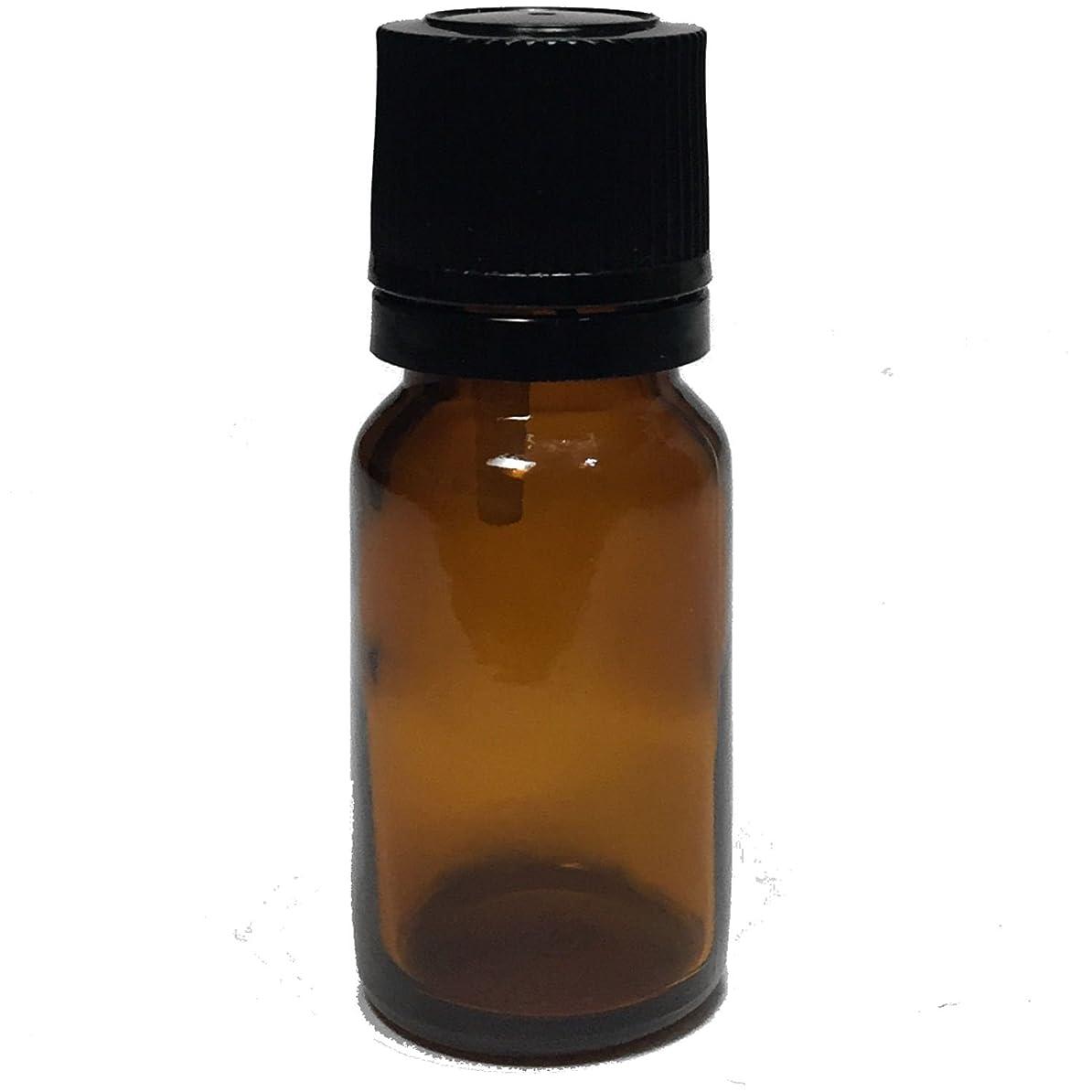 バラ色スカープ外交官エッセンシャルオイル用茶色遮光瓶 ドロッパー付き 黒キャップ 10ml ガラスビン 10本セット