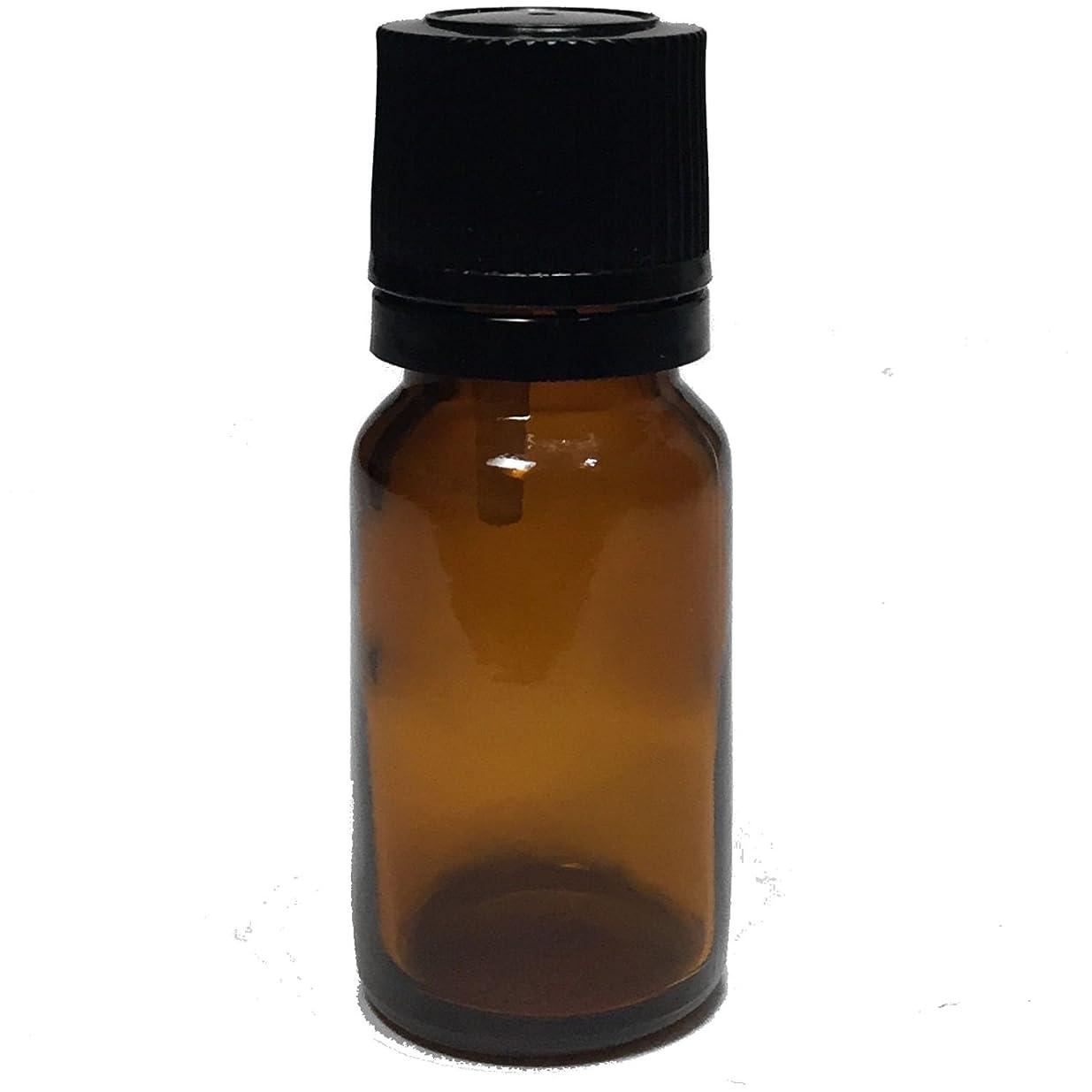 極めて重要なメダリスト隠されたエッセンシャルオイル用茶色遮光瓶 ドロッパー付き 黒キャップ 10ml ガラスビン 10本セット