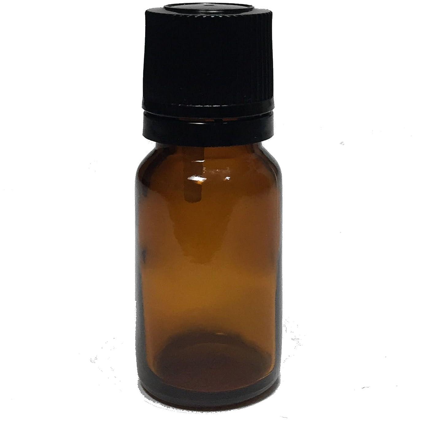 集中的な倍増チップエッセンシャルオイル用茶色遮光瓶 ドロッパー付き 黒キャップ 10ml ガラスビン 10本セット