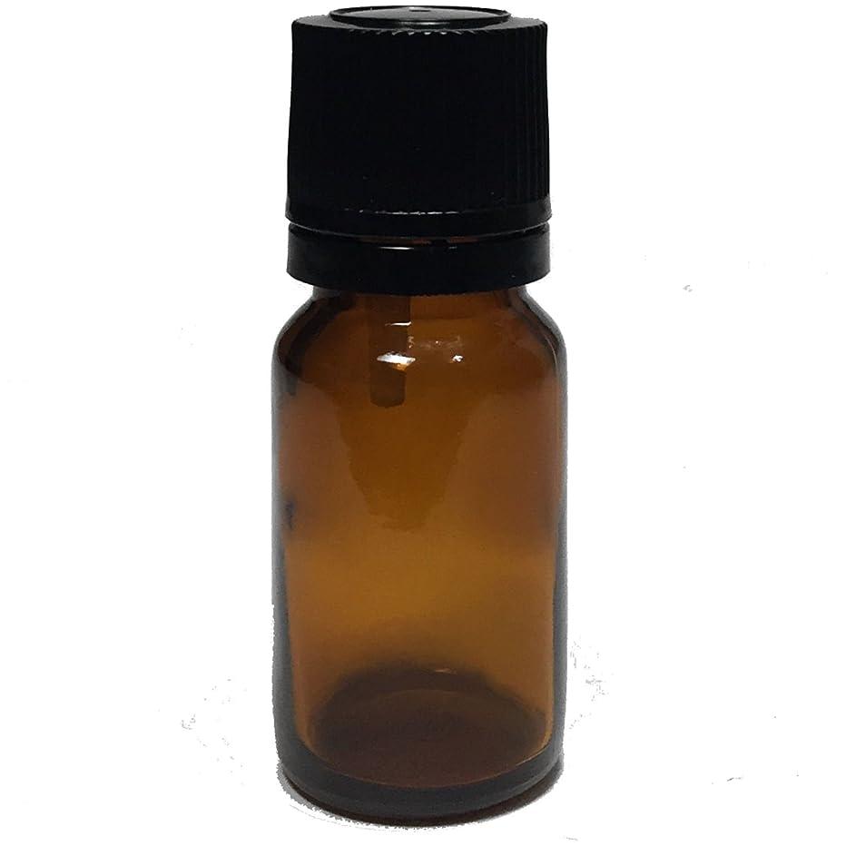 造船バリア目的エッセンシャルオイル用茶色遮光瓶 ドロッパー付き 黒キャップ 10ml ガラスビン 10本セット