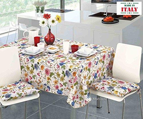 CASA TESSILE Nappe Coton résiné Loto - 6 Seats 140x180 cm.