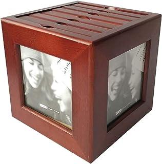 Soporte giratorio de madera para CD, Coffee Shop Leisure Bar Caja de almacenamiento de disco de gran capacidad The Mall - ...