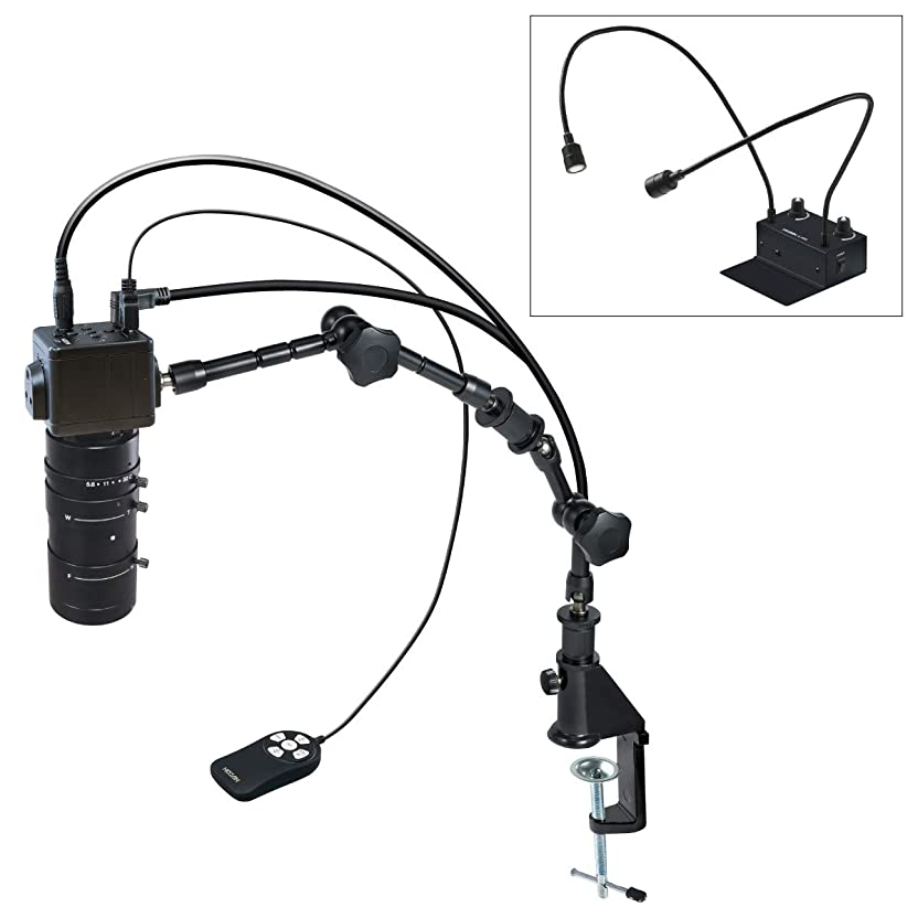 すみません砂の欠如ホーザン(HOZAN) マイクロスコープ HDMI出力 マイクロスコープ倍率2.7~76倍 フレキシブルアーム照明 フレキシブルアーム L-KIT654 SDカードへ画像?動画保存可能