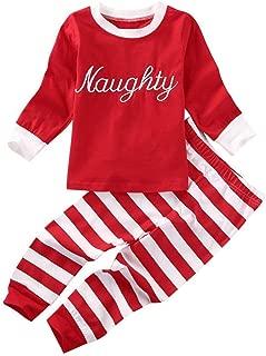naughty and nice christmas pajamas