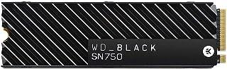 Western Digital WD Black SN750 SSD NVMe Interna per Gaming con Dissipatore di Calore, PCIe Gen3, M.2 2280, 3D NAND, 500 GB...