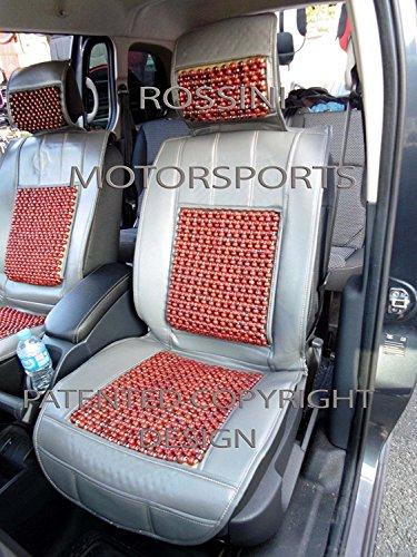 r - Adecuado para Dodge CalIBER COCHE, fundas de asiento, cojín con cuentas de masaje, gris