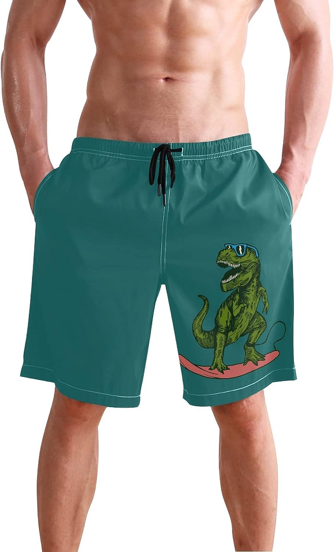 Watercolor Lemon Fruit Pattern Swim Trunks for Men Summer Casual Beach Mens Shorts Swiming Trunks S 2045051