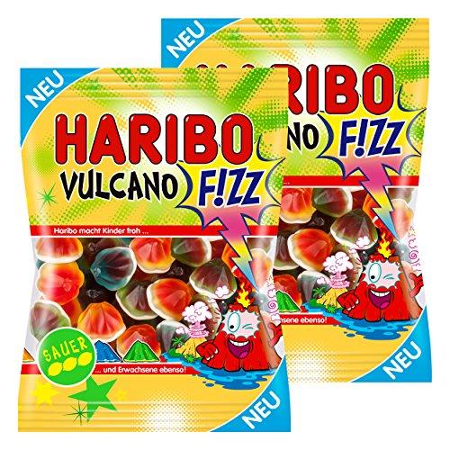 Haribo Vulcano Fizz, Sauer, Golosinas, Ositos de Goma, Vino Goma, Caramelos, Bolsa, 350g