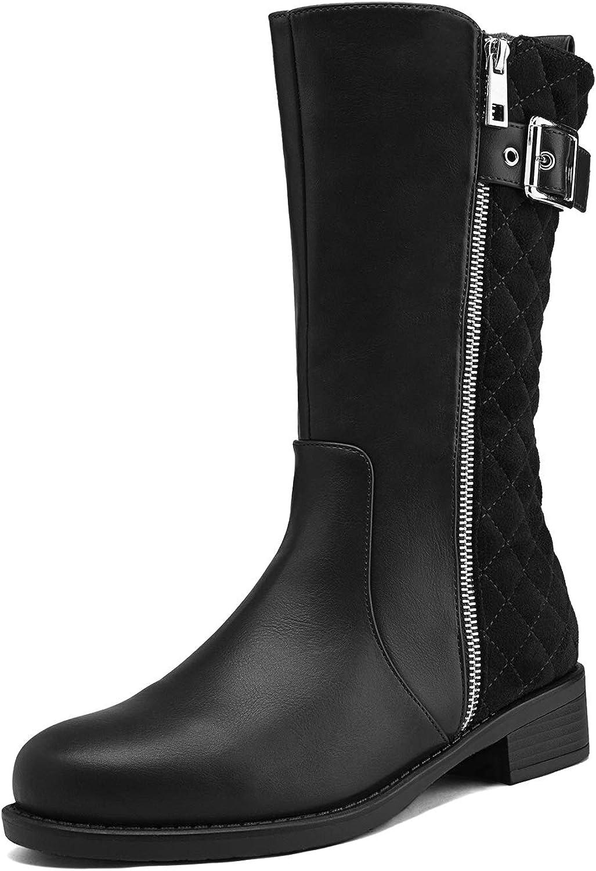 DREAM PAIRS Women's Winter Mid Calf Boots