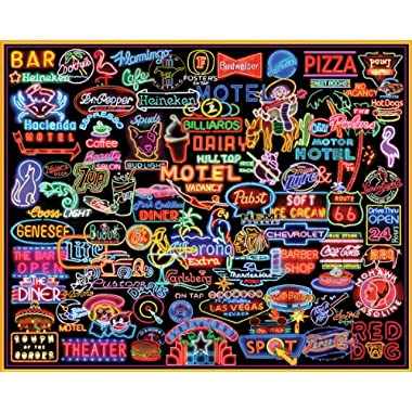 White Mountain Puzzles Neon Signs - 1000 Piece Jigsaw Puzzle