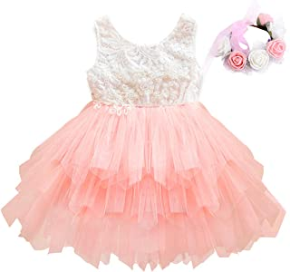 Áo quần dành cho bé gái – Little Girl Lace Tiered Tutu Dress Tulle Flower Girl Dress Wedding Party Dresses Special Occasion Dresses