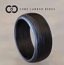 Men's or Women's 100% Carbon Fiber Legacy Matte Ring- Handcrafted -Lightweight - Black Band - Custom Band widths