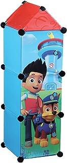 Fun House 712536 Pat Patrouille Colonne 3 casiers pour Enfant, Polypropylène, Rouge, 26 x 26 x 98 cm