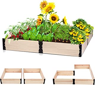 Taleco Gear Wooden Raised Garden Bed, Free Combination Planter Box Kit for Growing Fruit/Vegetable/Herb/Flower-Outdoor 63x...