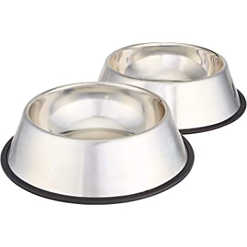 Pets Empire Stainless Steel Dog Bowl Medium (Buy 1, Get 1 Free), 700 ml