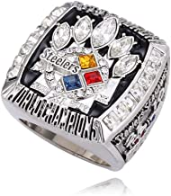 Gloral HIF 2005 Pittsburgh Steelers Super Bowl Championship Ring Collectible for Gifts Size 11 Without Box