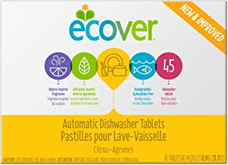 Ecover, Automatic Dishwasher Tablets, Citrus Scent, 45 Tablets, 31.7 oz (0.9 kg)