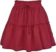 WHZXYDN Zomer Fashion Korte Rok Vrouwen Hoge Taille Elastische Effen Kleur Rok