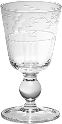 Signature Housewares Faustina 8-Ounce Wine/Water Glasses, Clear, Set of 4