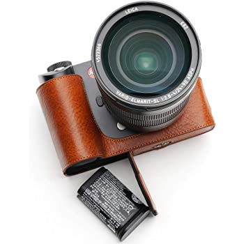 Handmade Genuine Real Leather Half Camera Case Bag Cover for Contax T2 Rufous Color