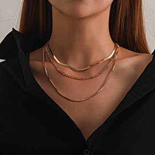Acedre Punk Snake Choker Necklaces Layered Necklaces Chain Adjustable Necklaces Jewelry Accessory for Women and Girls