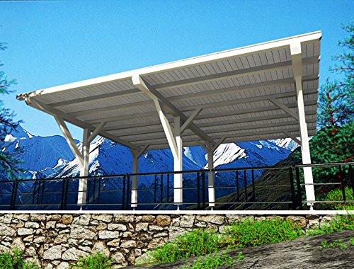 flat roof 390 x 600 gazebo con saette e basi fisse