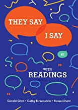 [by Cathy Birkenstein] They Say/I Say- The Moves That Matter in Academic Writing with Readings (Fourth Edition) (Paperback)