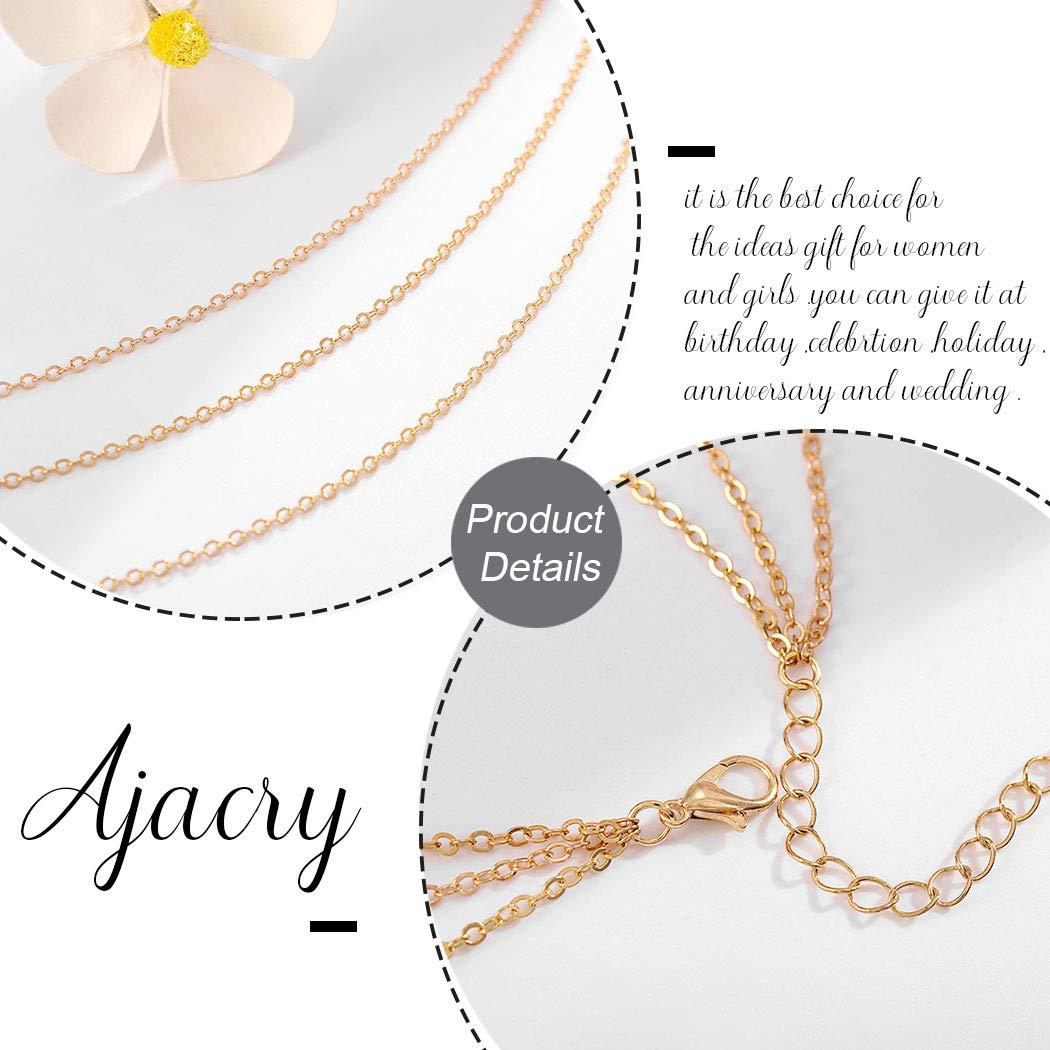 Ajacry Boho Layered Body Chain Gold Waist Chains Bikini Body Chain Accessories Jewelry for Women and Girls (Gold)