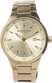 ساعة كينيث كول للرجال مينا ذهبية بسوار ستانلس ستيل -KC50488001