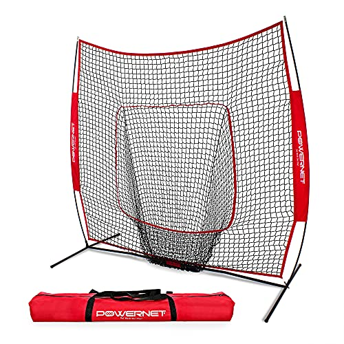 PowerNet Baseball and Softball Practice Net 7 x 7 with Bow...