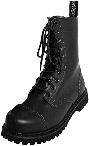 Knightsbridge 10 Trous Springer bottes Bottes Chaussures Basse Chaussures Chaussures Chaussures Gothic Chaussures Steel Caps Noir diverses Tailles b8a