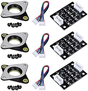 BIQU Nema17 Stepper Motor Steel and Rubber Vibration Dampers with 3pcsTL Smoother Addon Module for Pattern Elimination Motor Clipping Filter for Ender 3,CR-10 3D Printer