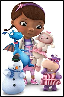 Doc McStuffins - Chilly Lambie Stuffy Hallie - For Dark-Colored Materials - Iron On Heat Transfer 5