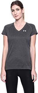 Under Armour Tech Short Sleeve V - Solid, Ladies T Shirt Made of 4-Way Stretch Fabric, Ultra-light & Breathable Running Ap...