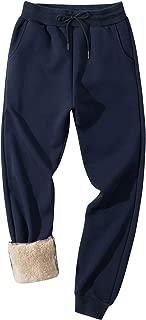 Gihuo Men's Winter Fleece Pants Sherpa Lined Sweatpants Active Running Jogger Pants
