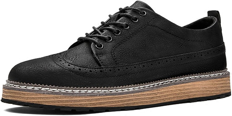 Herrenschuhe Feifei Herren Freizeitschuhe Breathable Abriebfeste Freizeit Mode Leder Schuhe 2 Farben (Gre Multiple Choice) (Farbe   Schwarz, gre   EU43 UK9 CN44)
