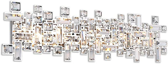 Paradigm 8 Light Bathroom Vanity Lights in Polished Chrome