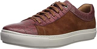 Brothers United Men's Leather Luxury Sophisticated Lace Up Sneaker